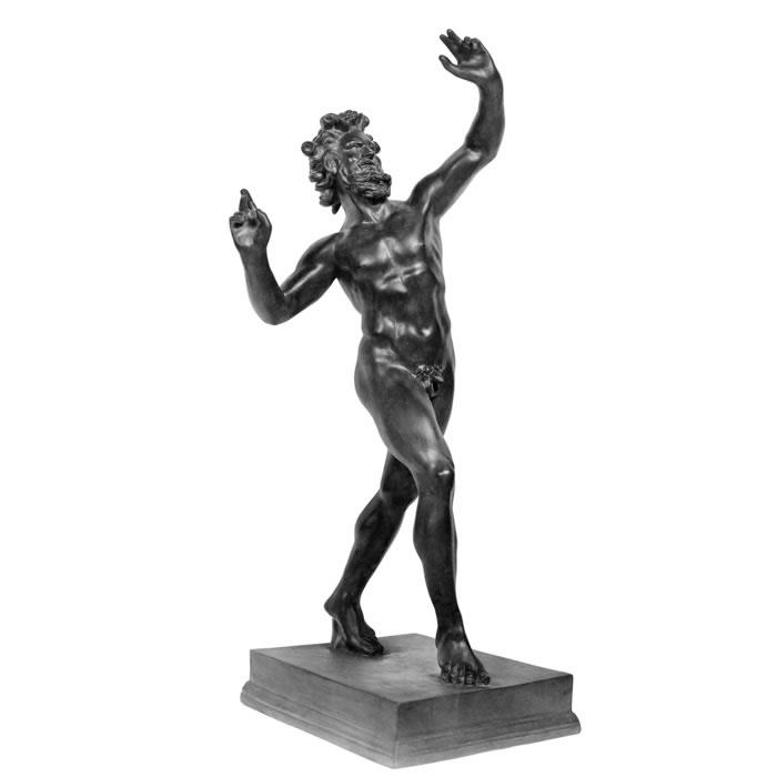 Faune dansant de Pompéi - Antiquités gréco-romaines - Reproduction d'une sculpture du Musée Archéologique National, Naples