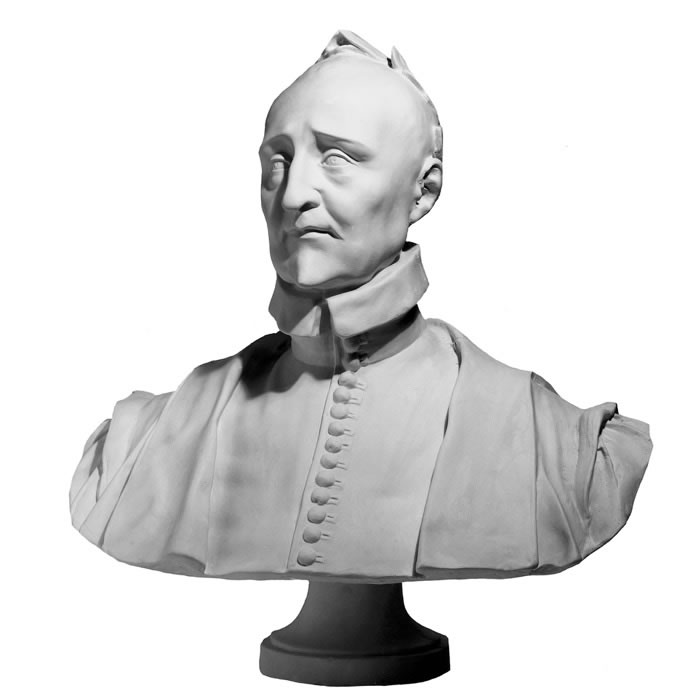 Reproduction Of Statue Bust Of Pierre De Ronsard
