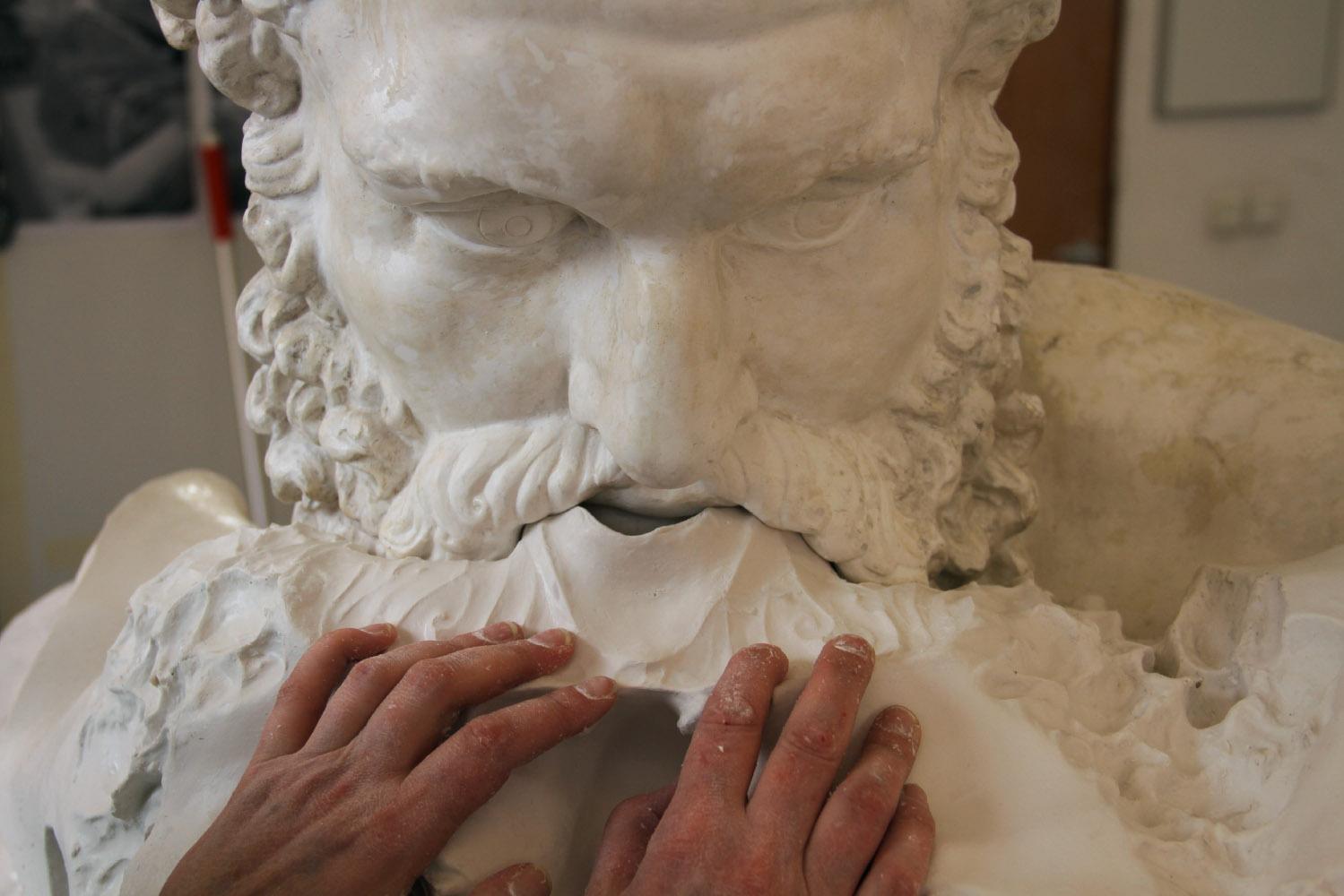 Sculptures et statues de grande taille pour la décoration d'intérieur - Idées déco d'art - Élastomère silicone pour la réalisation de l'Hercule Farnèse