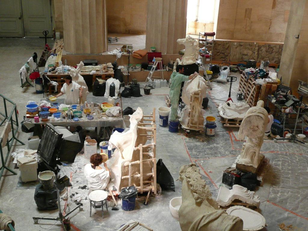 Chantier au château de Versailles